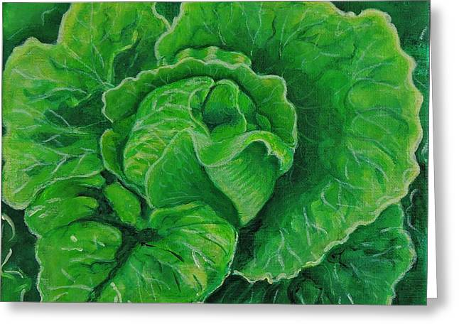God's Kitchen Series No 5 Lettuce Greeting Card