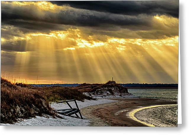 Greeting Card featuring the photograph God's Light by DJA Images