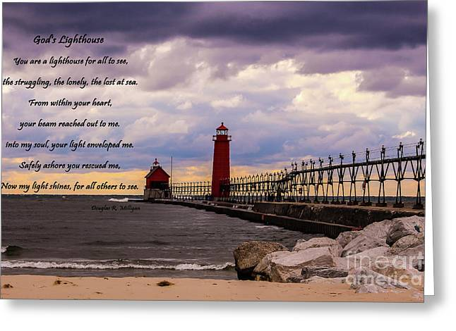 God's Lighthouse Greeting Card