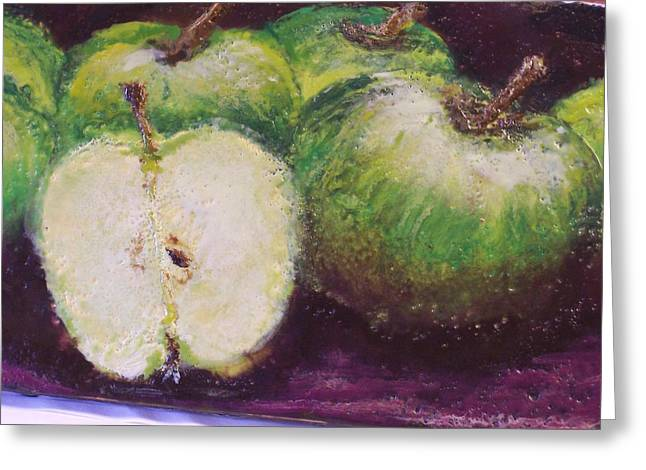Gods Little Green Apples Greeting Card by Karla Phlypo-Price