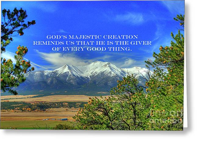 God's Majestic Creation Greeting Card