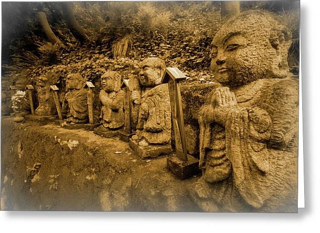 Greeting Card featuring the photograph Gods Of Japan by Daniel Hagerman