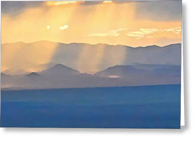 God's Rays Over The Great Basin  Greeting Card