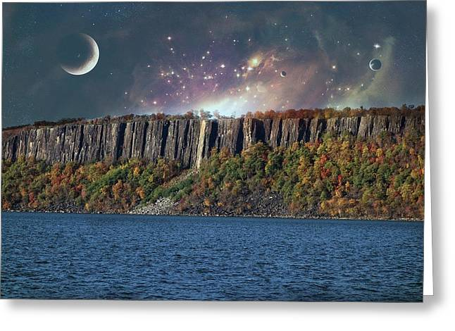 God's Space Over Planet Earth Greeting Card