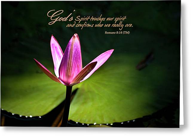 Greeting Card featuring the photograph God's Spirit by Carolyn Marshall