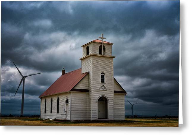 God's Storm Greeting Card by Darren White