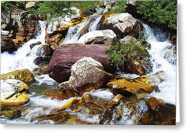 God's Water Greeting Card by Norman Kraatz
