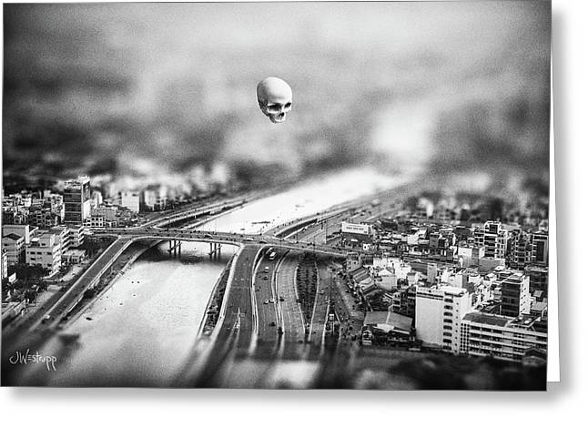 Greeting Card featuring the digital art Godseye 2 by Joseph Westrupp