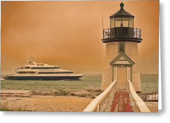 Godspeed At Brant Point Nantucket Island Greeting Card