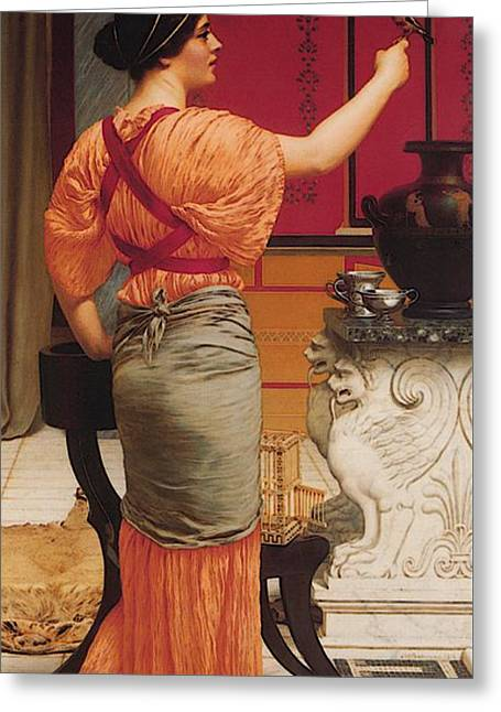Godward Lesbia With Her Sparrow Greeting Card