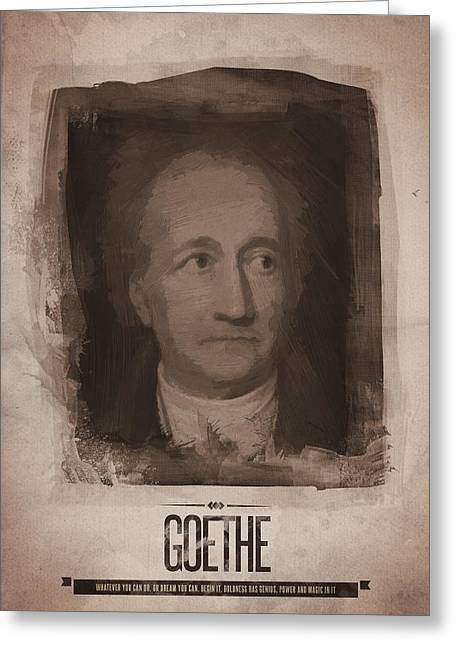 Goethe Greeting Card by Afterdarkness