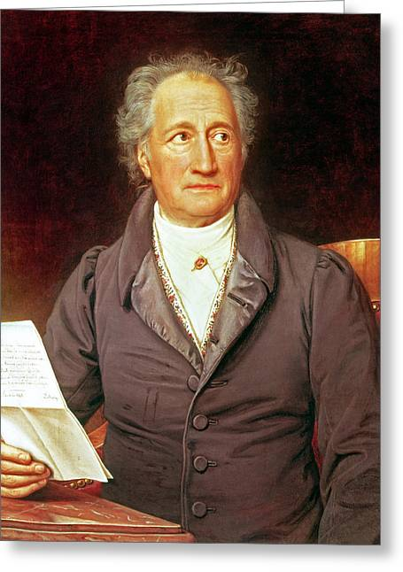 Goethe Greeting Card by Joseph Carl Stieler
