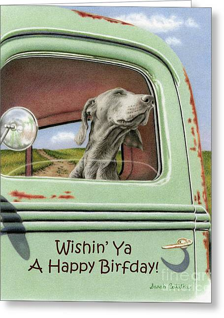 Goin' For A Ride- Happy Birthday Cards Greeting Card