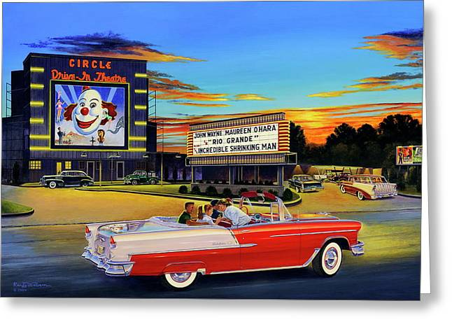 Goin' Steady - The Circle Drive-in Theatre Greeting Card