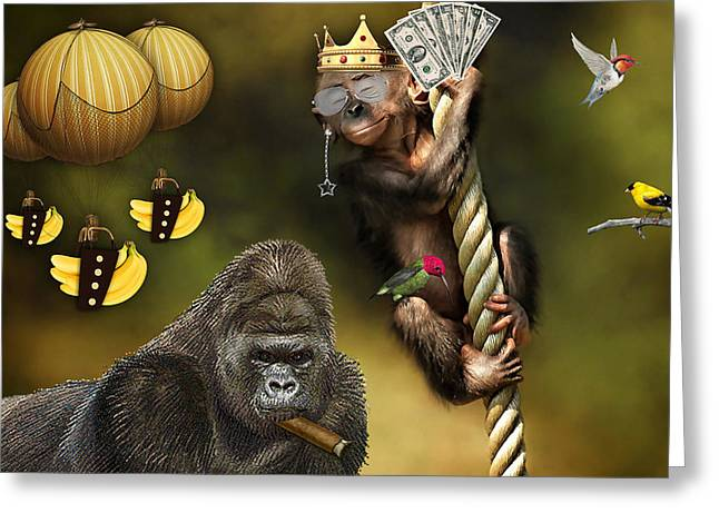 Going Bananas Greeting Card by Marvin Blaine