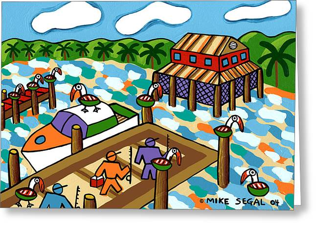 Going Fishing - Cedar Key Greeting Card