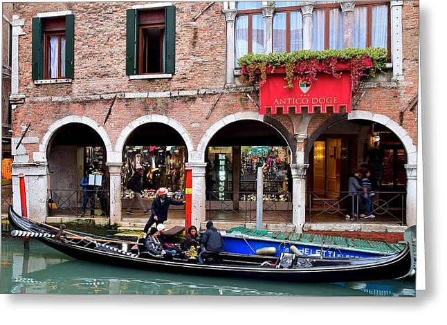 Going For A Gondola Ride Greeting Card by Frozen in Time Fine Art Photography