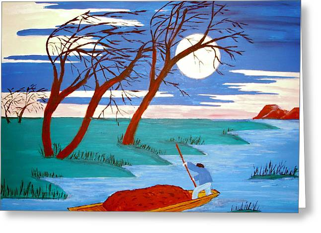 Greeting Card featuring the painting Going Home by Stephanie Moore