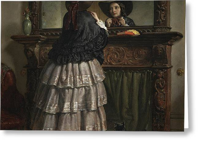 Going Out  Greeting Card by Philip Hermogenes Calderon