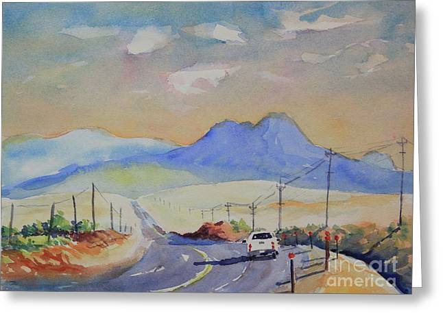 Going To Alpine Greeting Card by Marsha Reeves