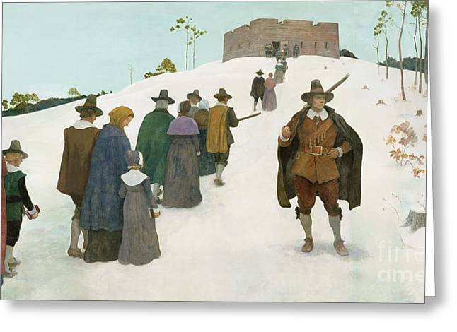 Going To Church Greeting Card by Newell Convers Wyeth