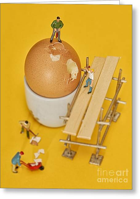 Going To Work On An Egg Greeting Card by John Boud