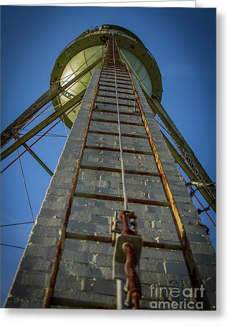 Greeting Card featuring the photograph Going Up Mary Leila Cotton Mill Water Tower Art by Reid Callaway