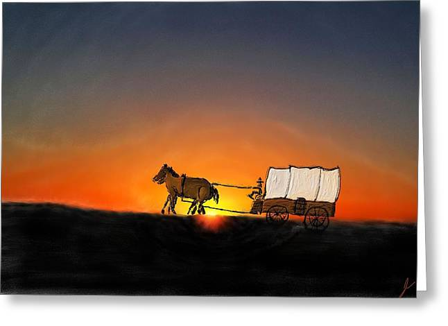 Going West Greeting Card by Jim Buchanan