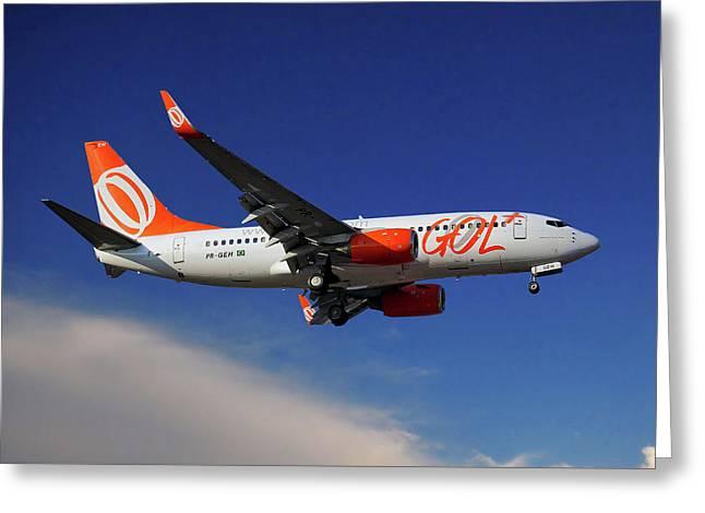 Gol Transportes Aereos Boeing 737-76n Greeting Card