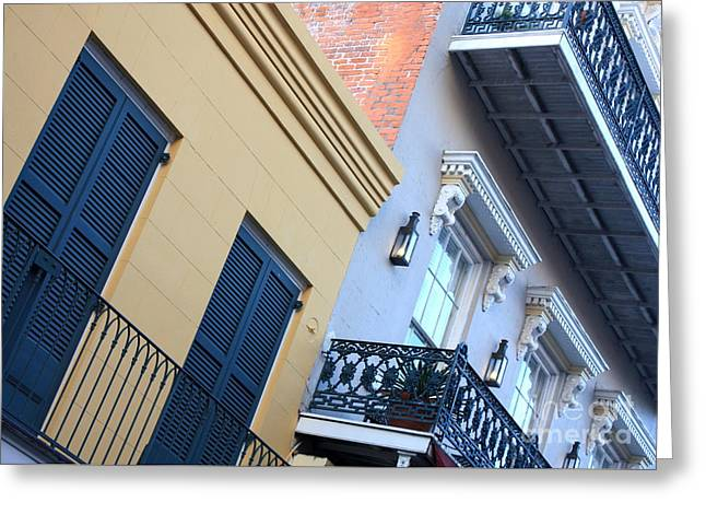 Gold And Gray In New Orleans Greeting Card by Carol Groenen