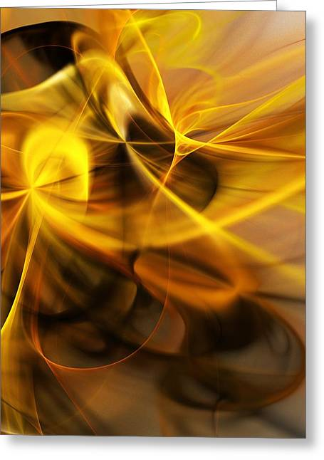 Gold And Shadows Greeting Card