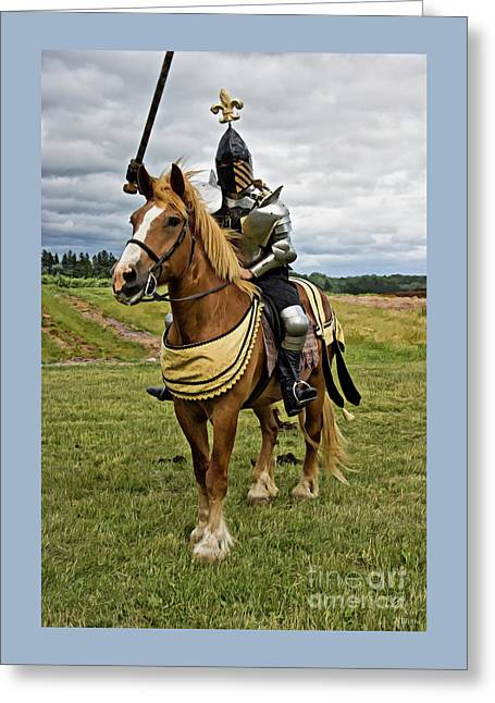 Gold And Silver Knight Greeting Card