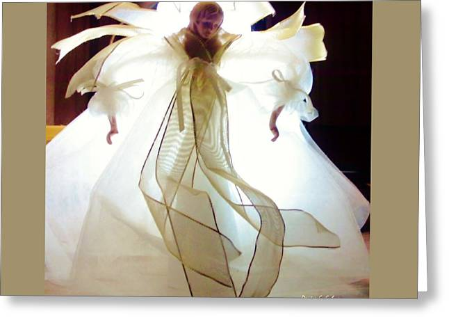 Gold And White Angel Greeting Card