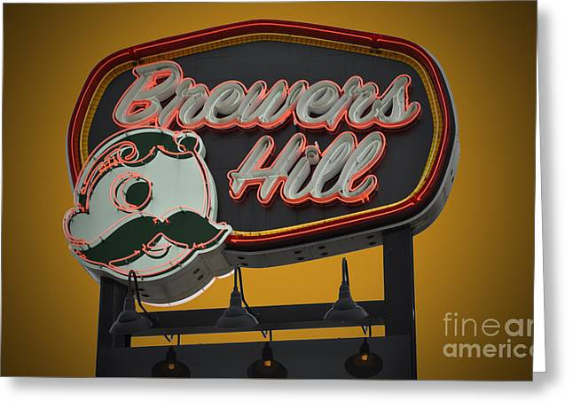 Gold Brewers Hill Greeting Card by Jost Houk
