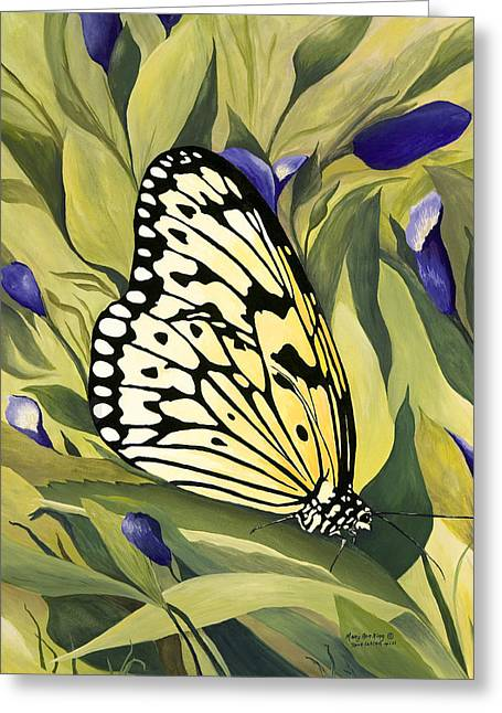 Gold Butterfly In Branson Greeting Card