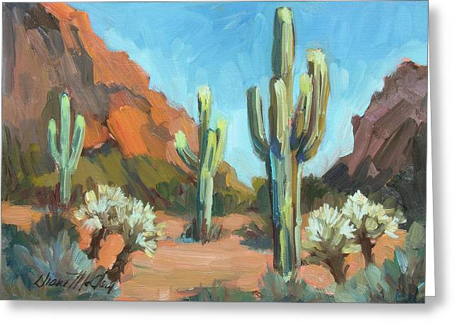 Greeting Card featuring the painting Gold Canyon by Diane McClary