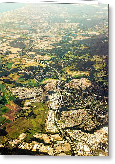 Gold Coast Aerial Photograph Greeting Card