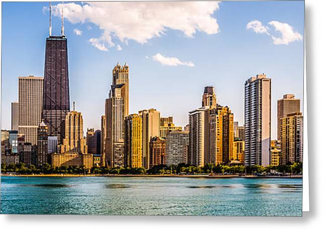 Gold Coast Chicago Skyline Panorama Greeting Card by Paul Velgos