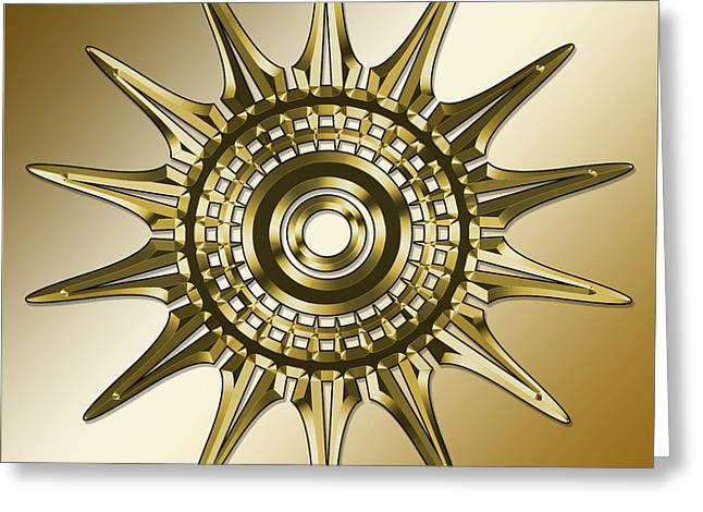 Greeting Card featuring the digital art Gold Coffee 11 by Chuck Staley