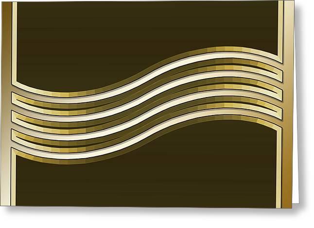 Gold Coffee 8 Greeting Card
