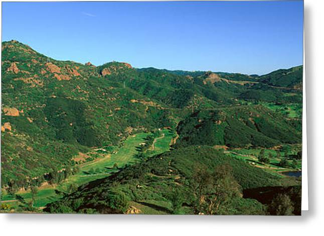 Gold Course, Malibu, California Greeting Card by Panoramic Images
