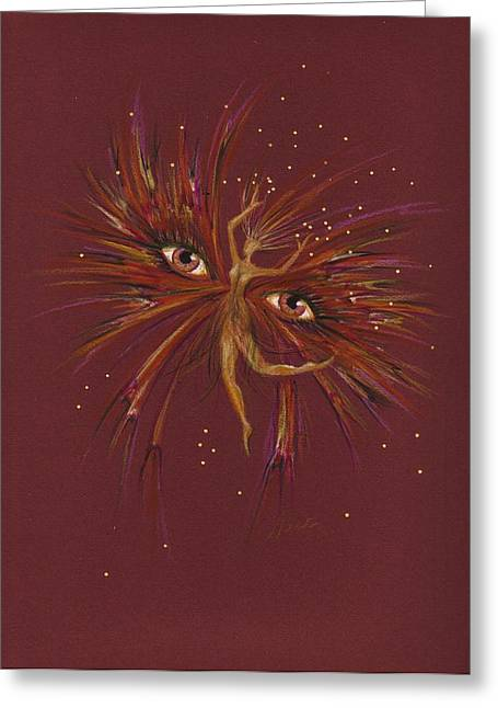 Greeting Card featuring the drawing Gold by Dawn Fairies