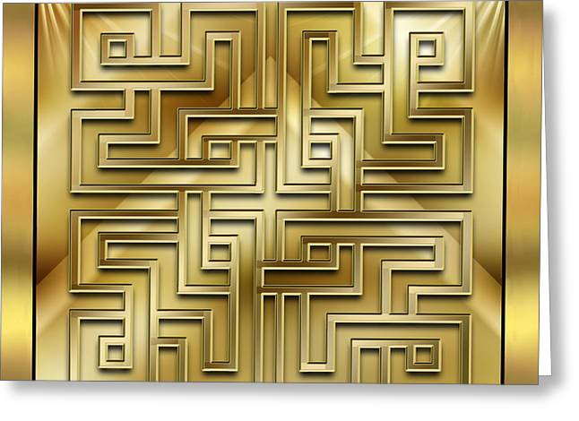 Gold Design 1 - Chuck Staley Greeting Card by Chuck Staley