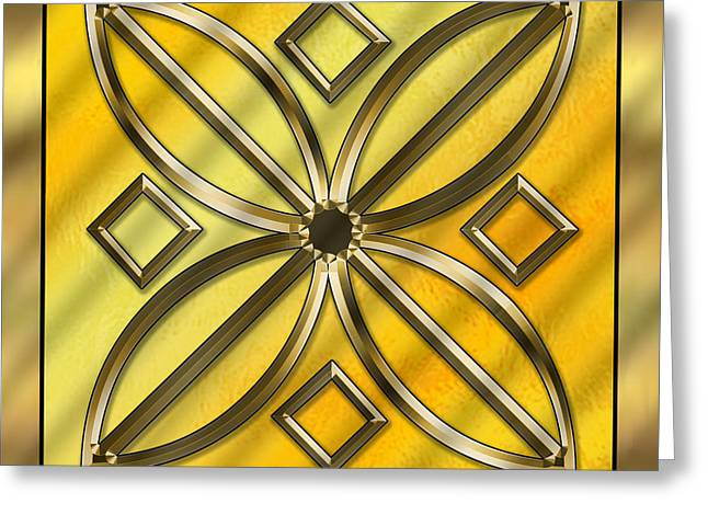 Gold Design 11 - Chuck Staley Greeting Card by Chuck Staley