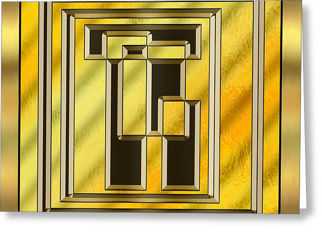 Gold Design 15 - Chuck Staley Greeting Card by Chuck Staley