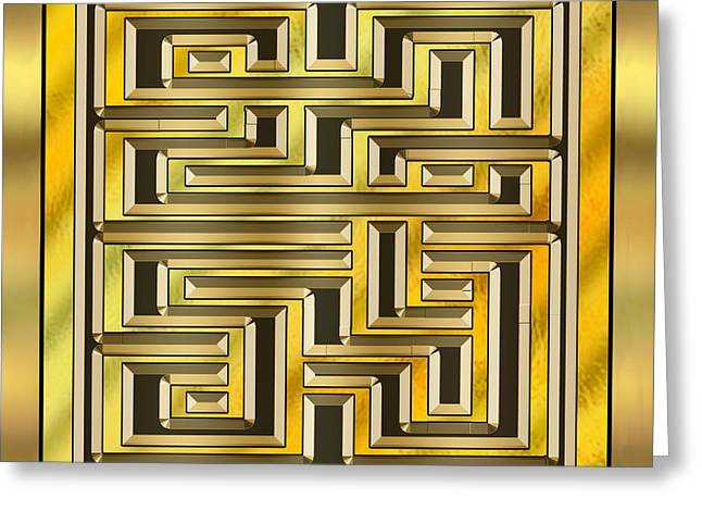 Gold Design 17 - Chuck Staley Greeting Card by Chuck Staley