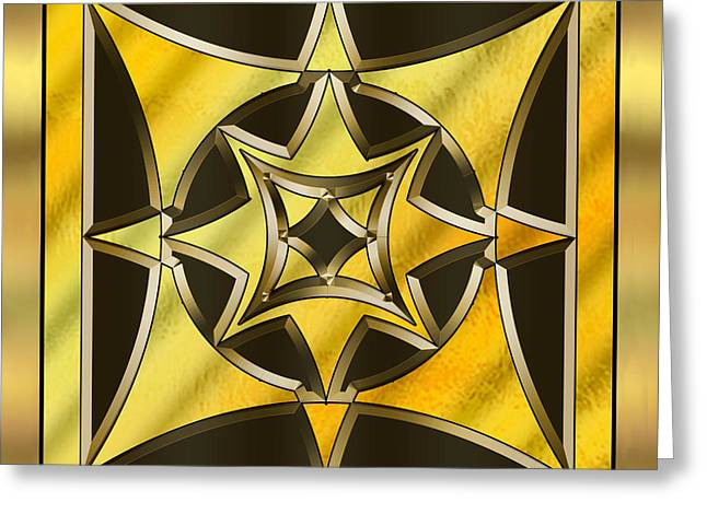 Gold Design 18 - Chuck Staley Greeting Card by Chuck Staley