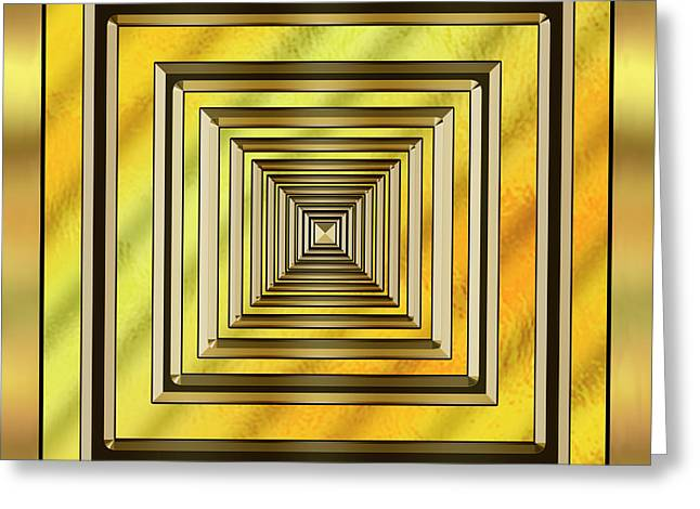 Gold Design 19 - Chuck Staley Greeting Card by Chuck Staley
