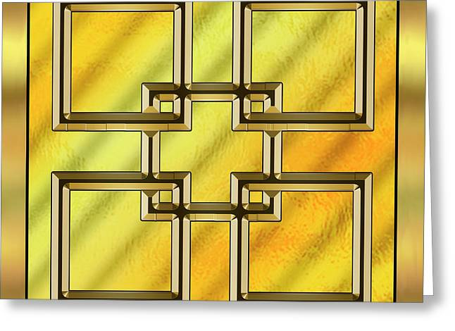 Gold Design 2 - Chuck Staley Greeting Card by Chuck Staley