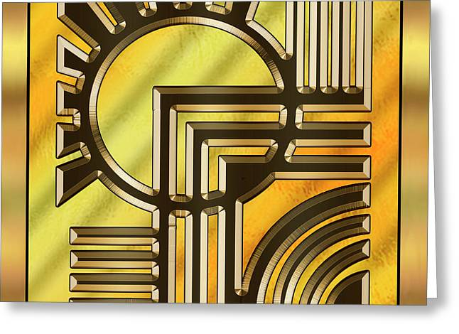 Gold Design 21 - Chuck Staley Greeting Card by Chuck Staley
